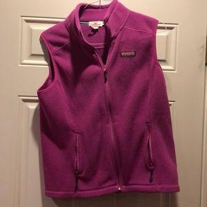 Vineyard Vines pink polar fleece vest, size medium